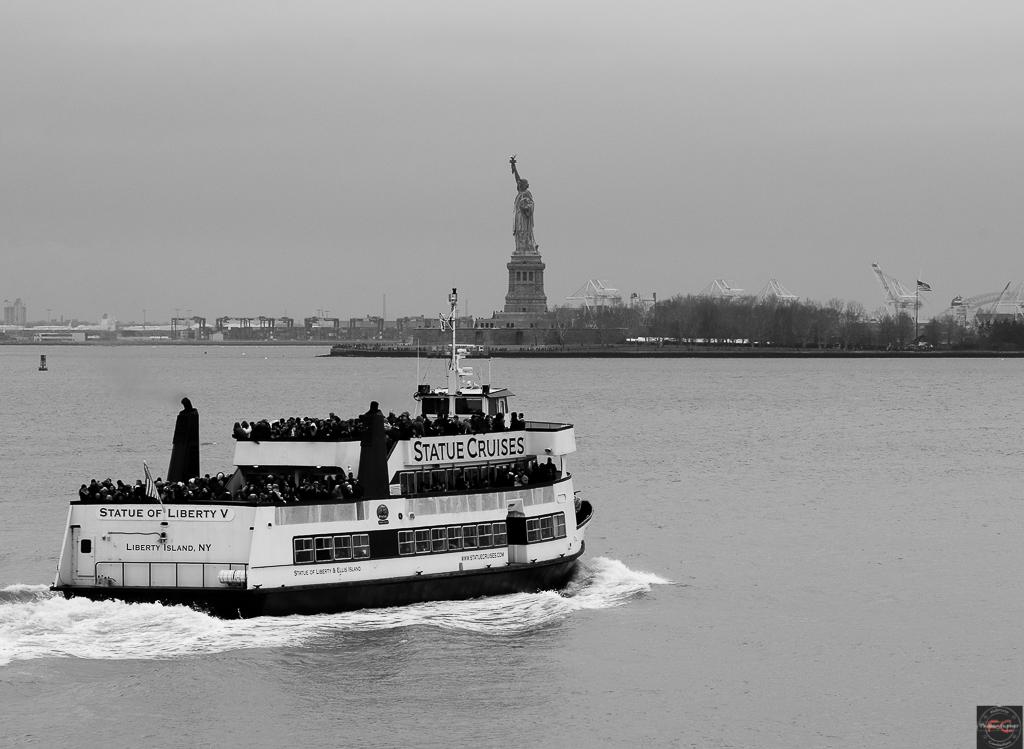 Statue of liberty bianco e nero